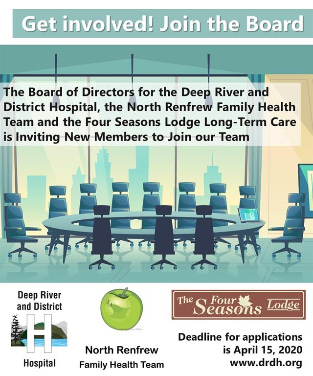 Get Involved - Join the Board graphic